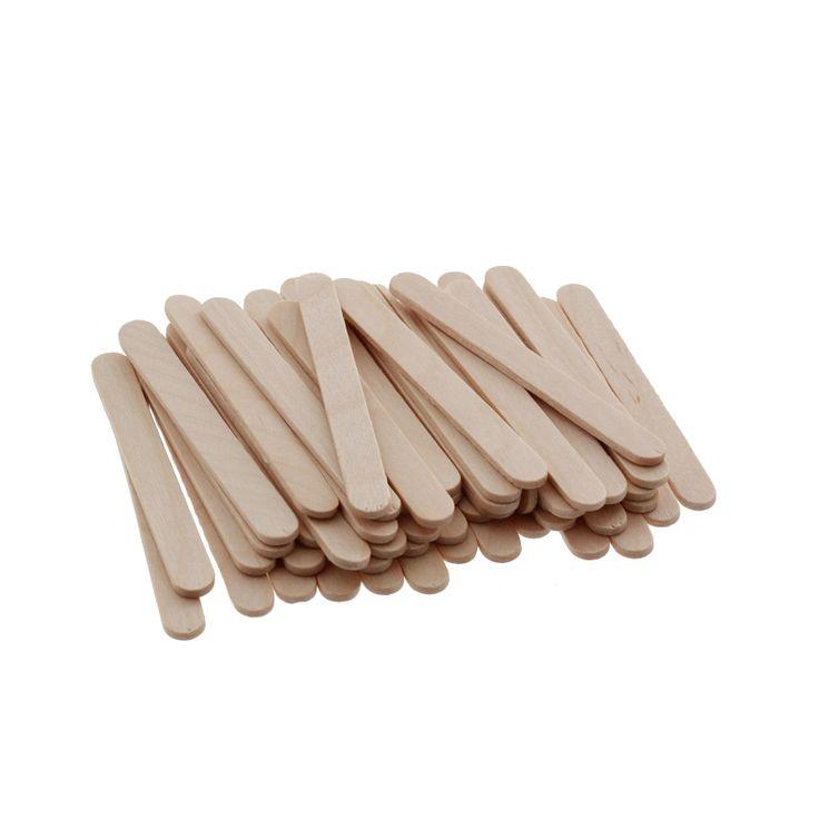 Set 100 mini-bâtonnets en bois à esquimaux - Silikomart