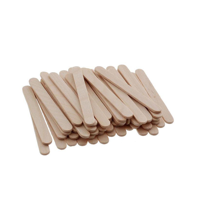 100 petits bâtonnets en bois pour glaces esquimaux 7cm - Silikomart