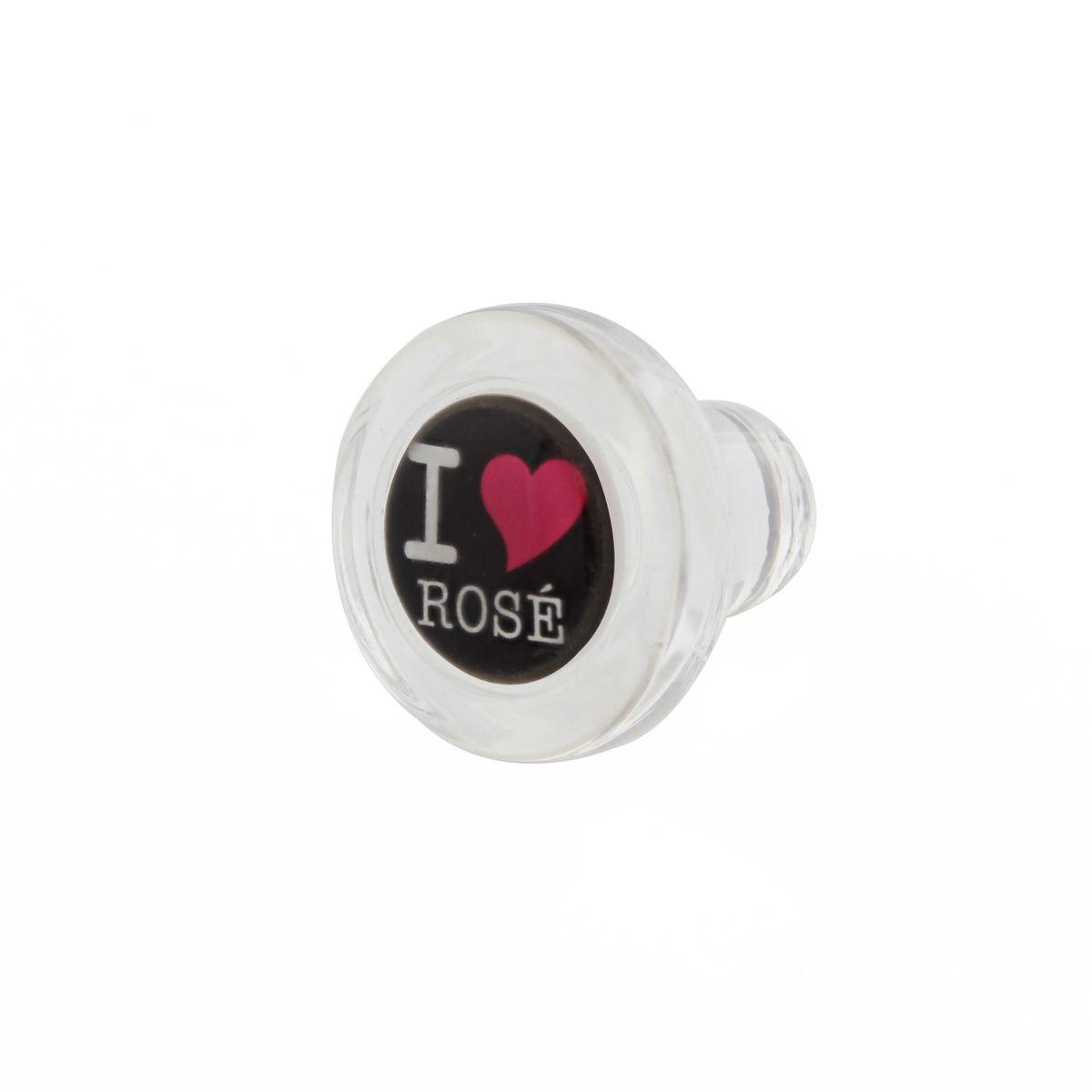 Bouchon en verre - Noir - I Love Rose - Cevenpack