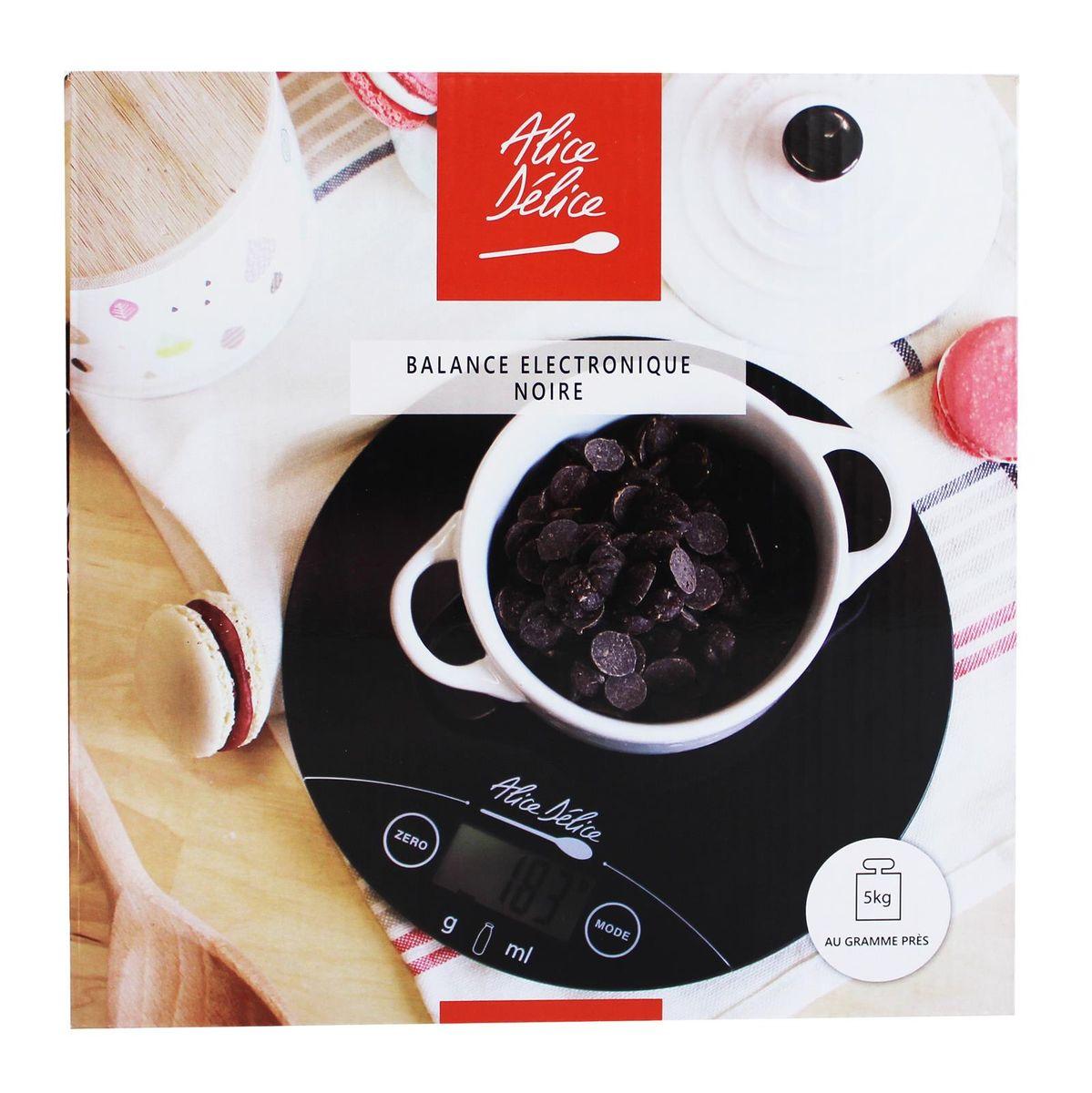 Balance digitale ronde noire - Alice Délice