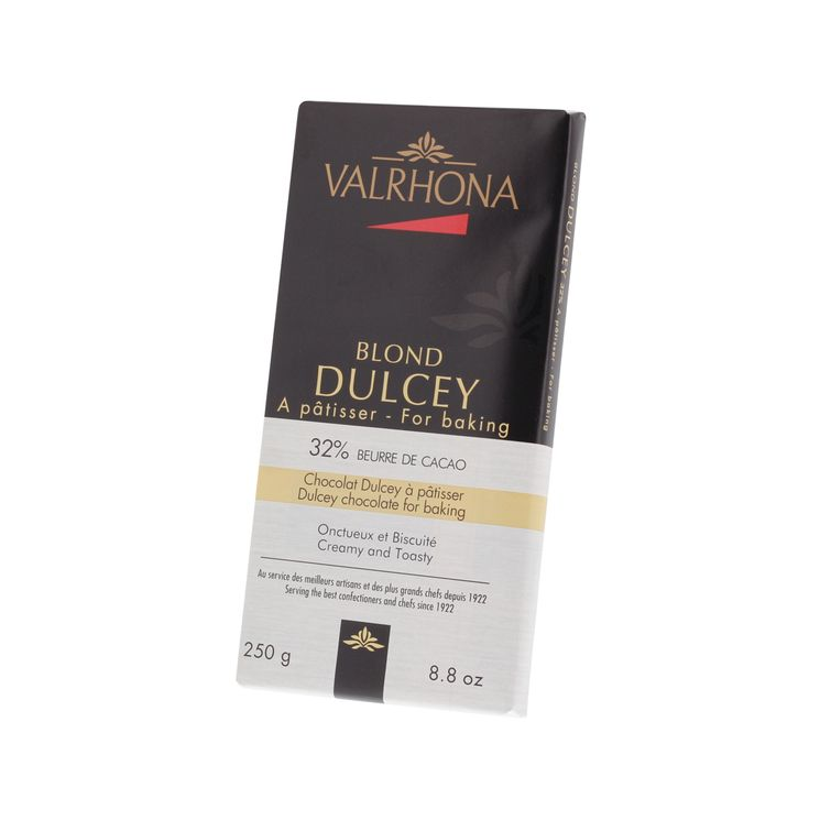 Mini-blocs chocolat à pâtisser blond Dulcey  32% 250gr - Valrhona