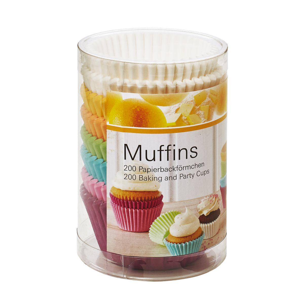 200 moules à muffins en papier coloré 7 cm - Birkmann