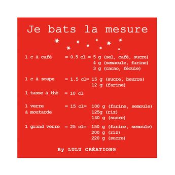 "MAGNET ""JE BATS LA MESURE"" ROUGE - LULU CREATION"