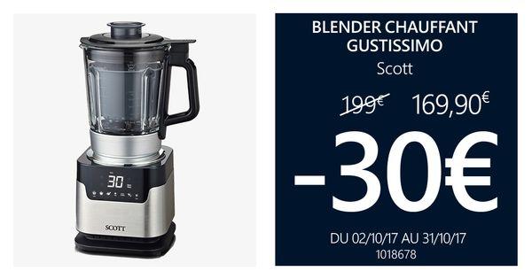 -30€ blender chauffant - GUSTISSIMO