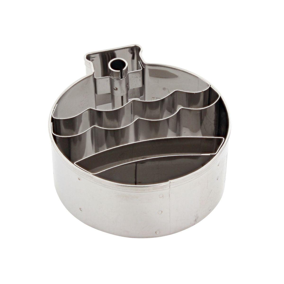 Emporte pièce inox boule de Noël 6.5 cm - Birkmann