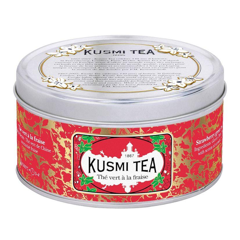 THÉ VERT A LA FRAISE - 125G - KUSMI TEA
