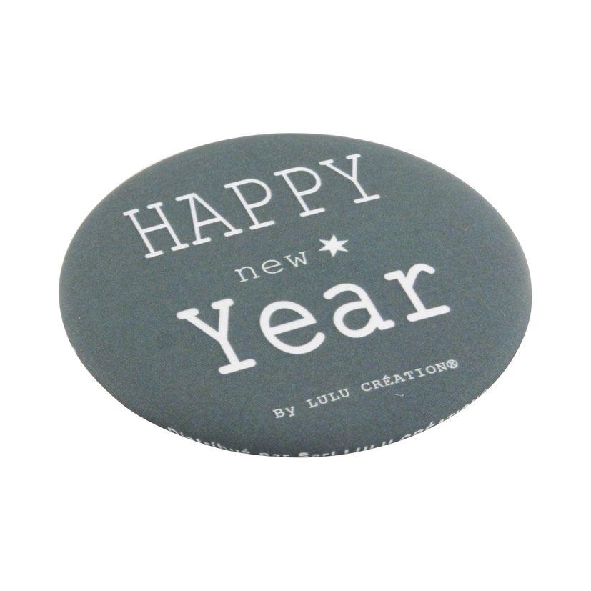 Décapsuleur aimanté Happy New Year gris - Lulu Création