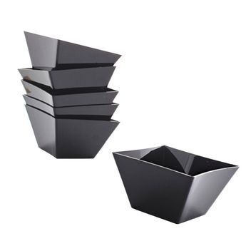 6 verrines 50ml carrées noires - Design for Cook