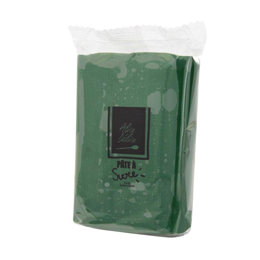 Pâte à sucre vert foncé 250g - Alice Délice