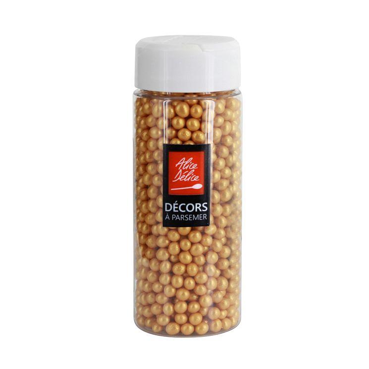 Perles sucre dorées 80gr - Alice Délice