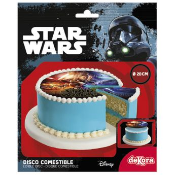 DISQUE EN SUCRE STAR WARS 20CM - STAR WARS
