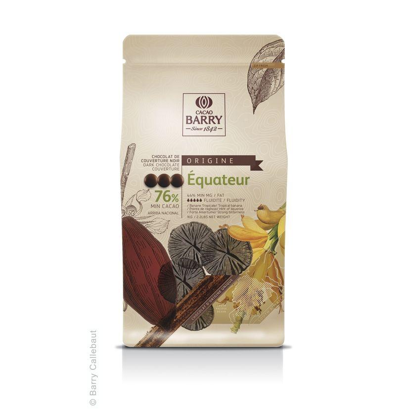 Chocolat noir Equateur 1kg - Barry