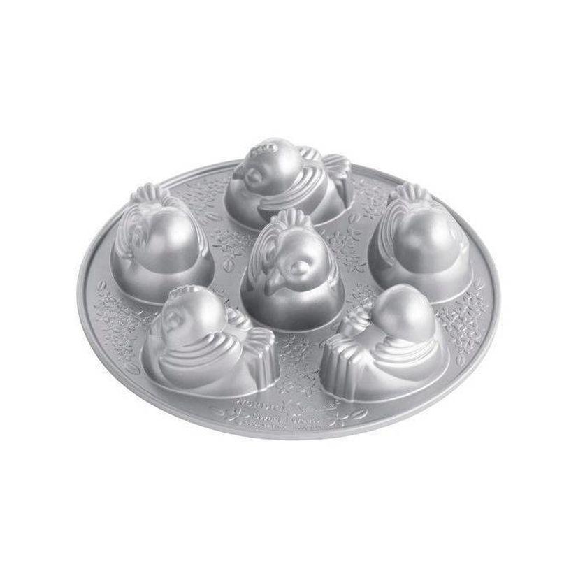 Moule 6 poussins en fonte d´aluminium - Nordic Ware