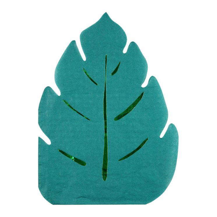 16 longues serviettes feuille - Meri Meri