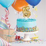 Décor de gâteau : Ballon chiffre 5 doré - Creative Converting