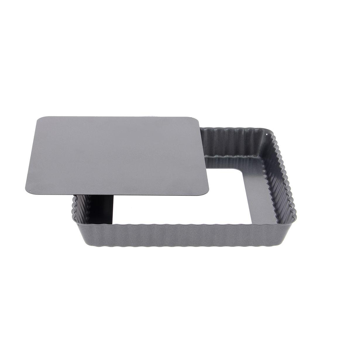 Moule à tarte carré fond démontable 18 cm - De Buyer