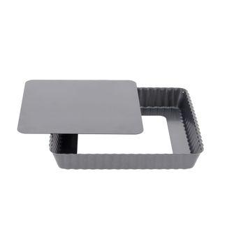 Achat en ligne Moule à tarte carré fond démontable 18 cm - De Buyer