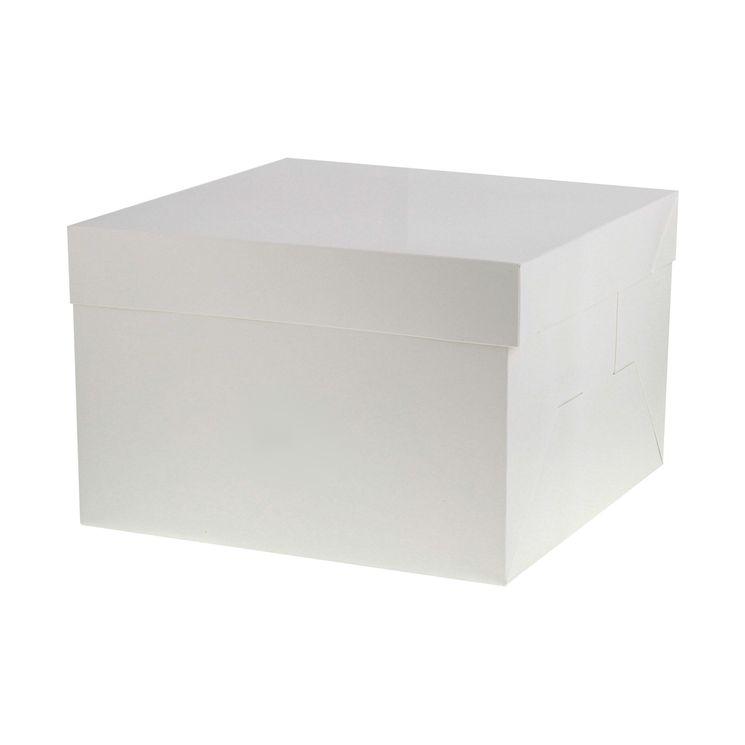 Boîte gâteaux blanche 31cm x 31 cm x 20 cm - Patisdecor