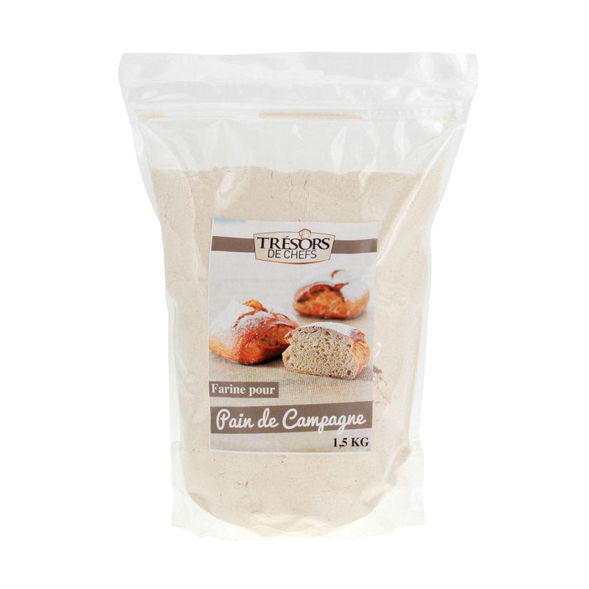Farine pour pain de campagne 1.5kg - Trésors de Chefs
