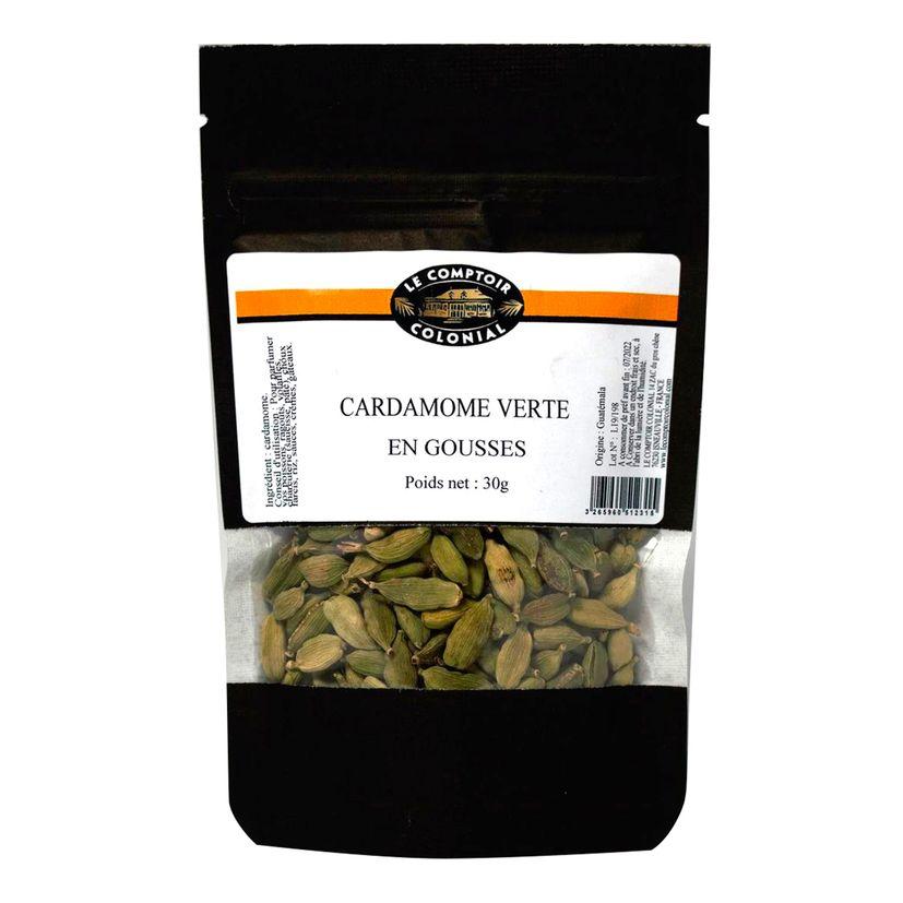 Cardamome verte sachet 30gr - Le comptoir colonial