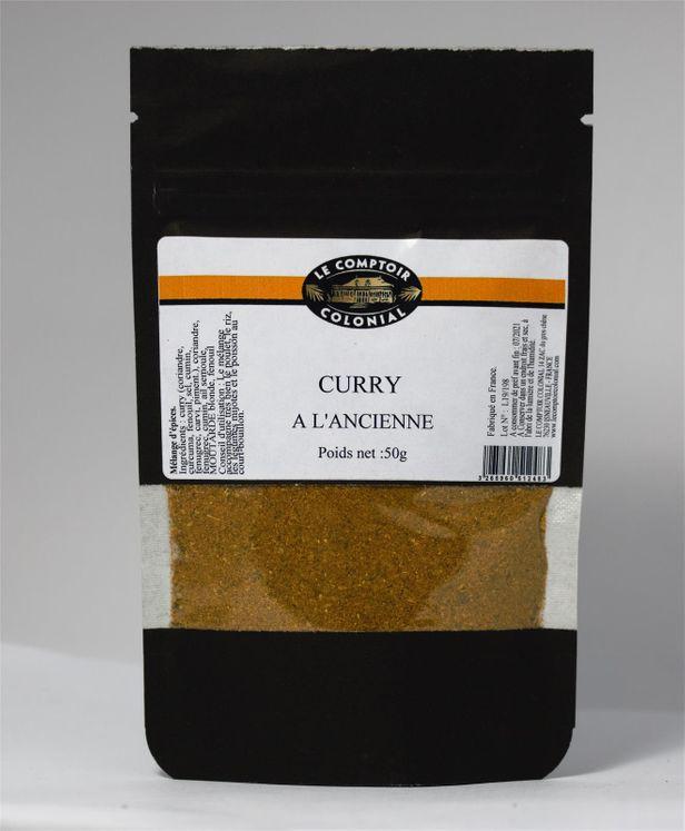 Curry à l´ancienne sachet 50gr - Le comptoir colonial