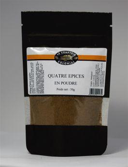 Achat en ligne Mélange 4 épices en poudre  50gr - Le Comptoir Colonial