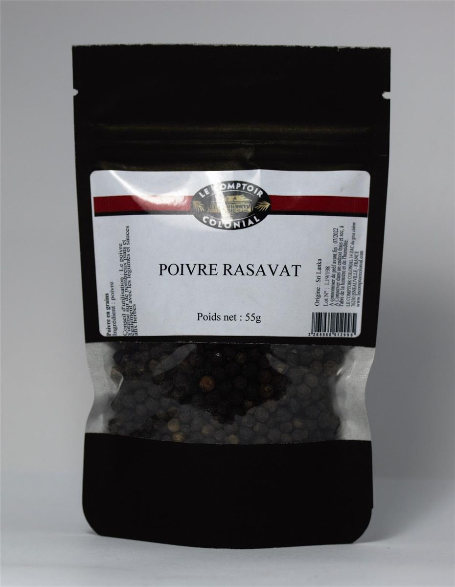 Poivre noir Rasavat 55gr - Le Comptoir Colonial