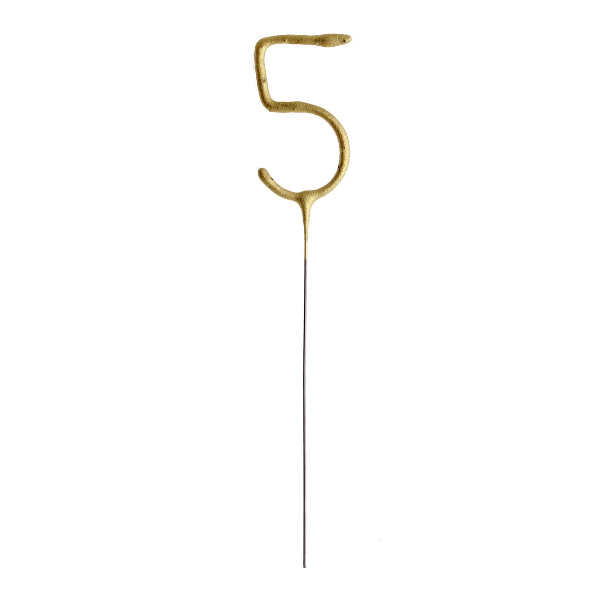 Bougie scintillante dorée chiffre 5 - Patisdecor