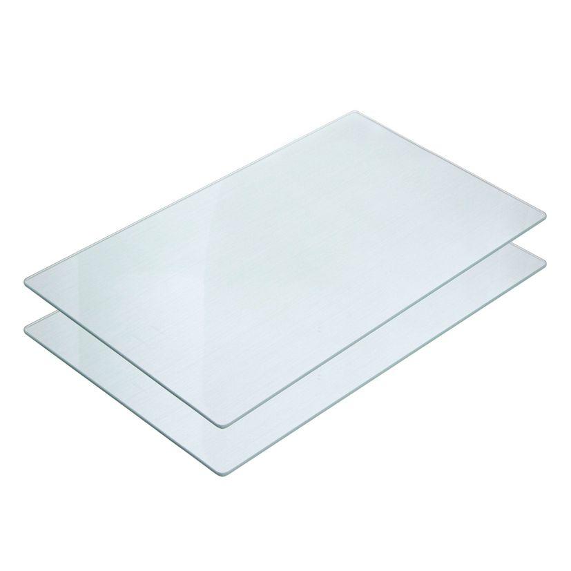 2 planches en verre protège-plaques 52 x 30 cm - Zeller