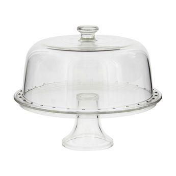 Achat en ligne Plat gâteau sur pied avec cloche 31 cm - Borgonovo