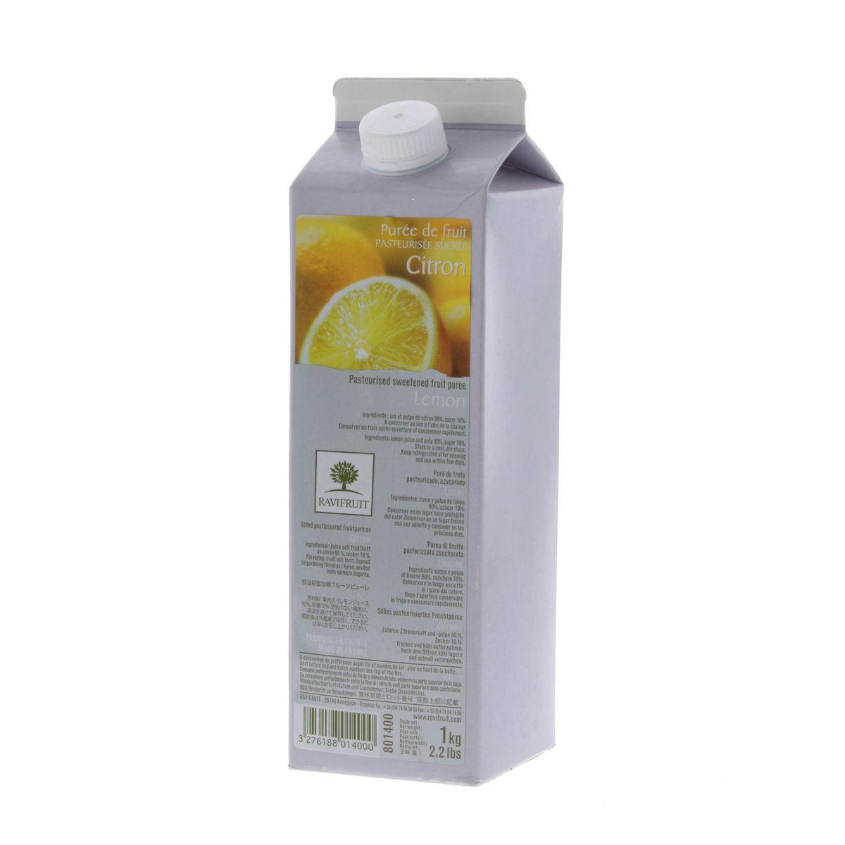Purée de citron 1000 ml - Ravifruit