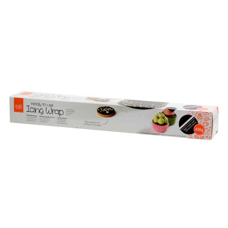 Rouleau de pâte à sucre noir 430 gr - Voila