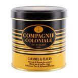 Thé noir aromatisé boîte métal caramel et fleur - Compagnie Coloniale