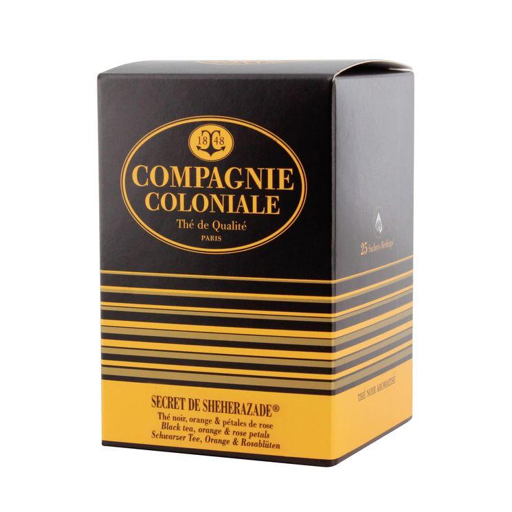 Thé noir aromatisé 25 berlingots Secret de Shéhérazade - Compagnie Coloniale