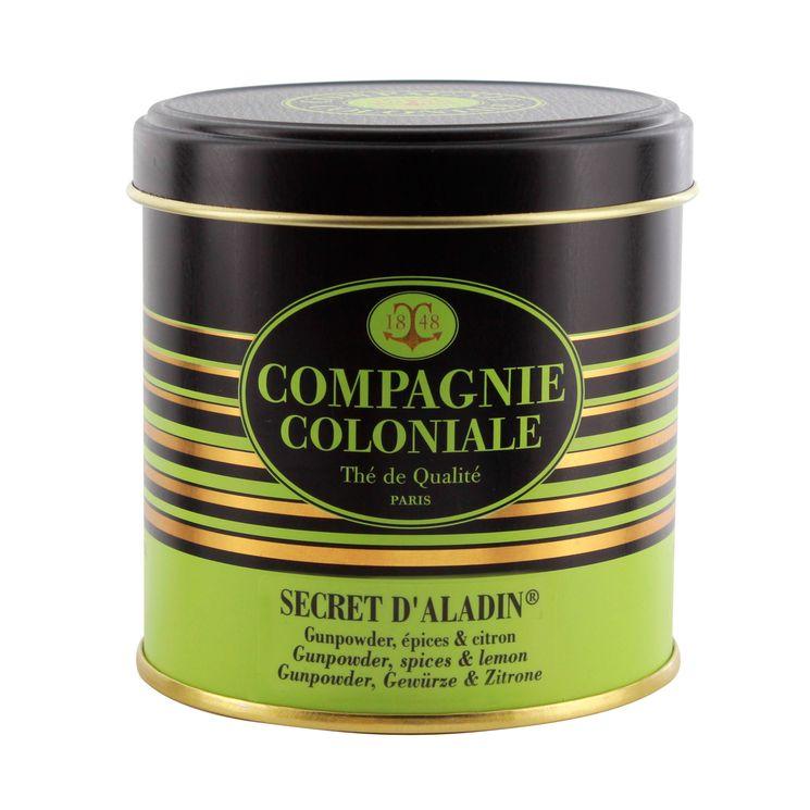 Thé vert nature et aromatisé boîte métal Secret d´Aladdin - Compagnie Coloniale