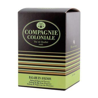 Thé vert nature et aromatisé 25 berlingots Balade en Avignon - Compagnie Coloniale