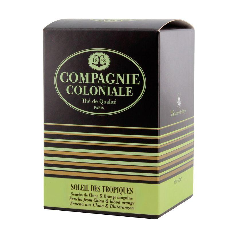 Thé vert aromatisé 25 berlingots Soleil des tropiques - Compagnie Coloniale
