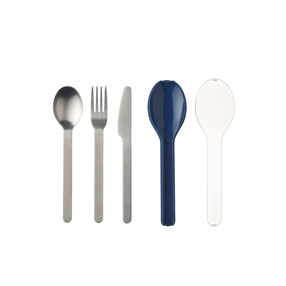 Couverts nomades : couteau. fourchette et cuillère Ellipse bleus - Mepal