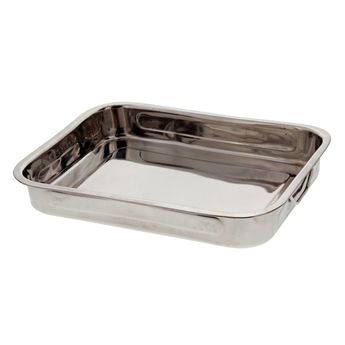 PLAT A FOUR RECTANGULAIRE INOX 35 x 25 H 5.8 CM - TABLETOPDIFFUSION