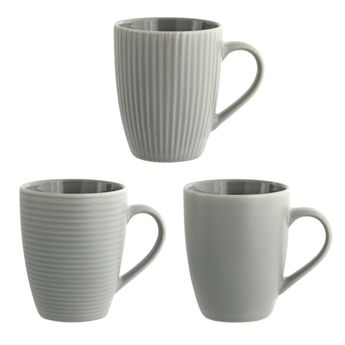 MUG GRES GRIS - KJ COLLECTION