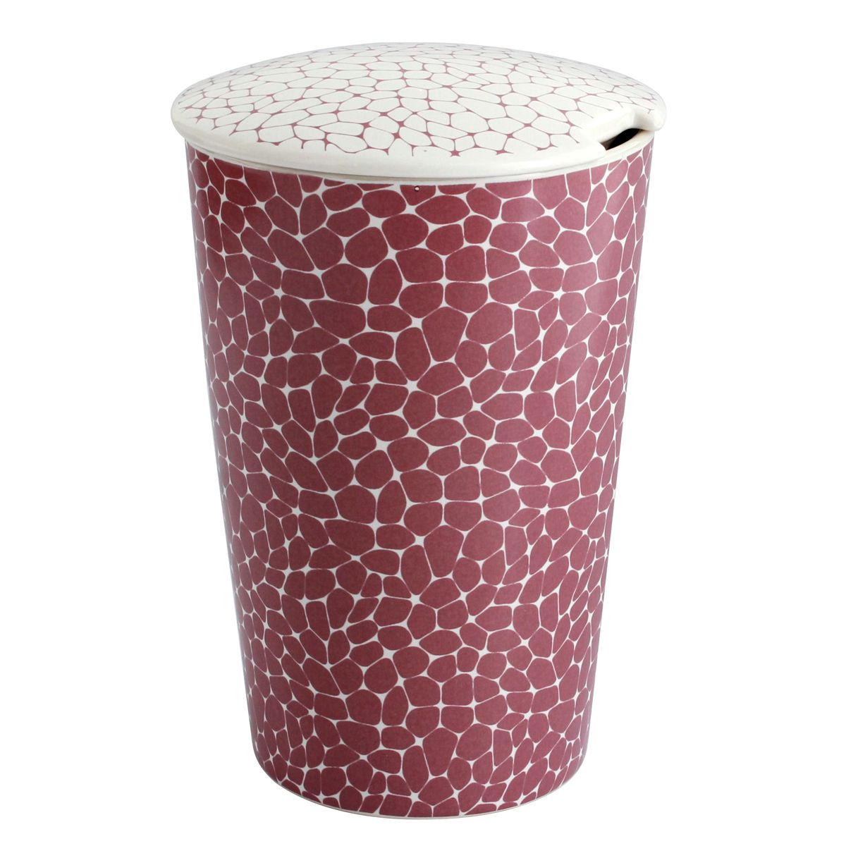 Tisanière porcelaine platine motif pierre 350ml - Teaeve
