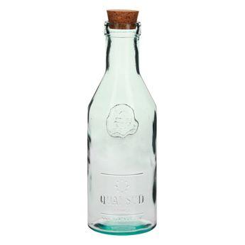 Carafe verre recyclé bouchon liége - Quai Sud