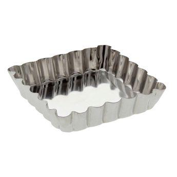 Achat en ligne Moule à tartelette carré fer blanc 10 cm - Gobel