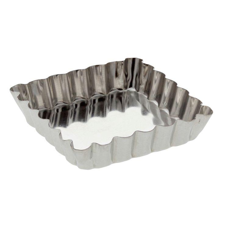 Moule à tartelette carré fer blanc 10 cm - Gobel