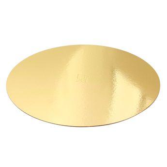 Achat en ligne 5 supports à gâteaux ronds dorés 26 cm - Gatodeco