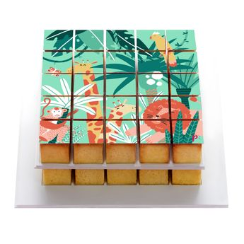 PIXDECO JUNGLE DECOR EN SUCRE POUR PIXMOULE - SILIKOMART