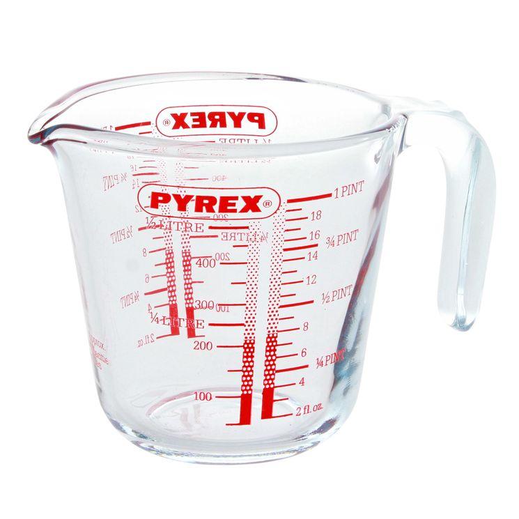 Verre mesureur gradué avec anse 0.50l - Pyrex
