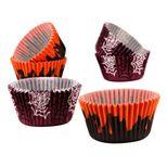 48 caissettes à muffins Halloween noir et violet 7 cm - Birkmann