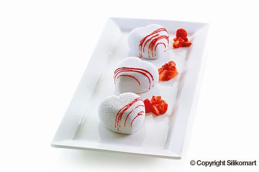 Moule en silicone 3D8 mini coeurs Cuoricino - Silikomart