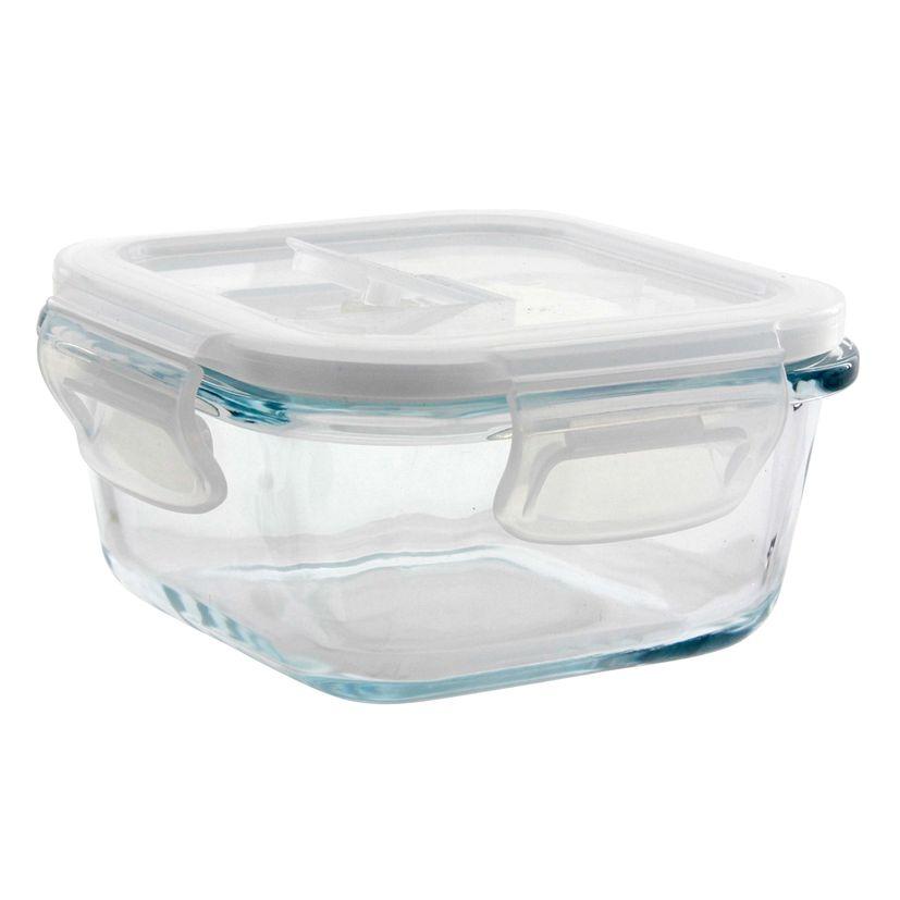 Boîte carrée en verre 320 ml - Pebbly